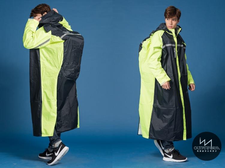 頂峰背包前開式連身雨衣 16