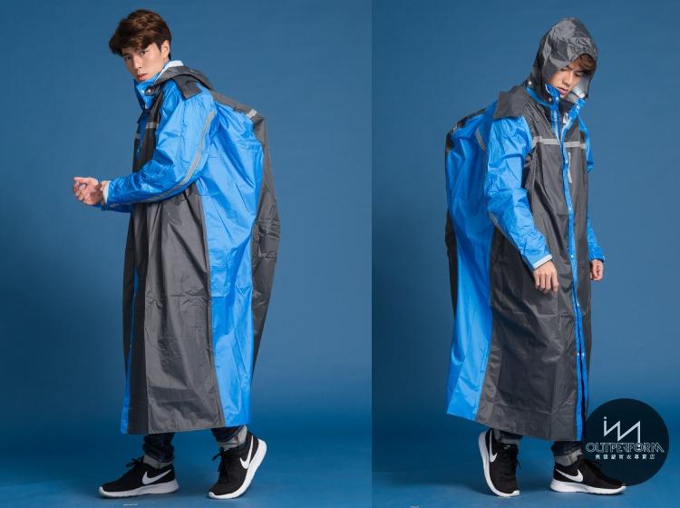 頂峰背包前開式連身雨衣 14