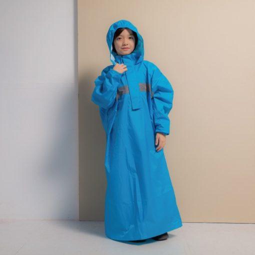 頂峰兒童背包款半開連身雨衣 3