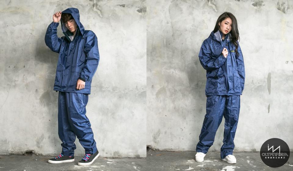 本格style日系兩截式風雨衣 9