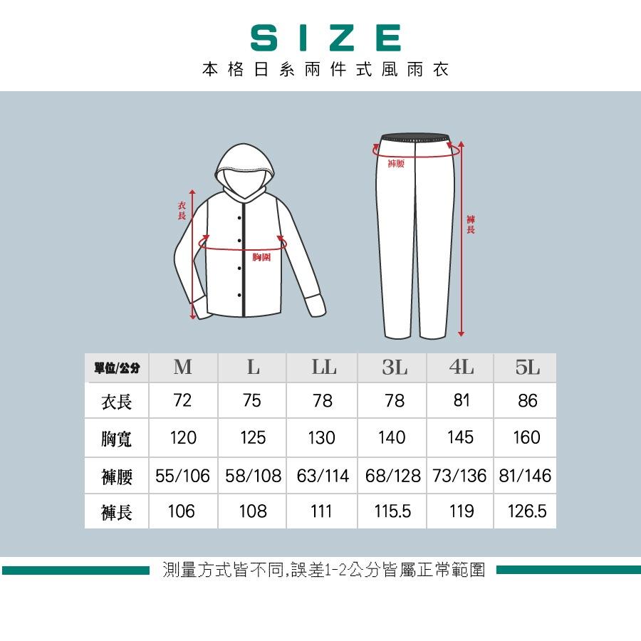 本格style日系兩截式風雨衣 8
