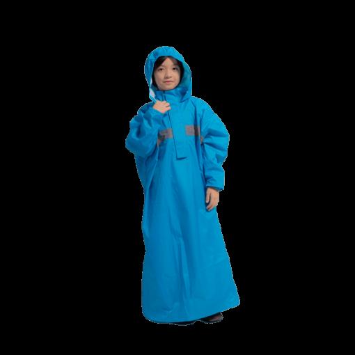 頂峰兒童背包款半開連身雨衣 1