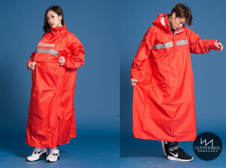 頂峰背包款太空式連身雨衣 11