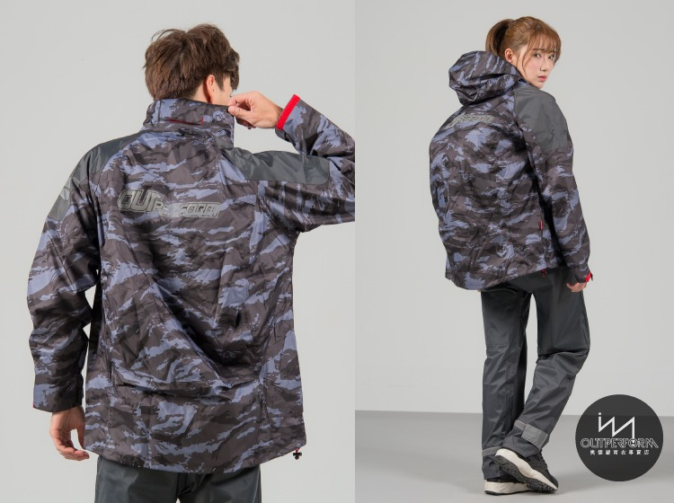 城市遊俠背包款風雨衣外套 10