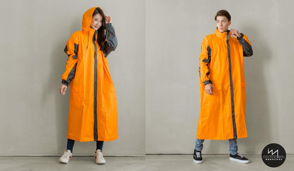 勁馳前開式連身雨衣 12