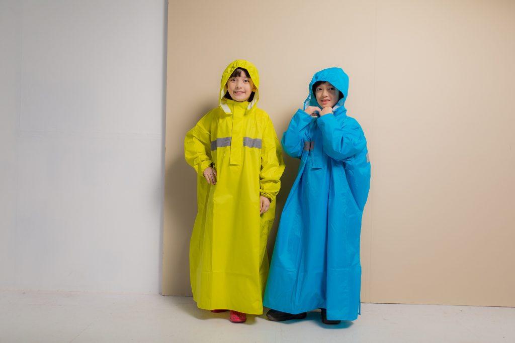 頂峰兒童背包款半開連身雨衣 10