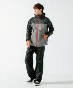OH!MY兩件式風雨衣-淺灰色