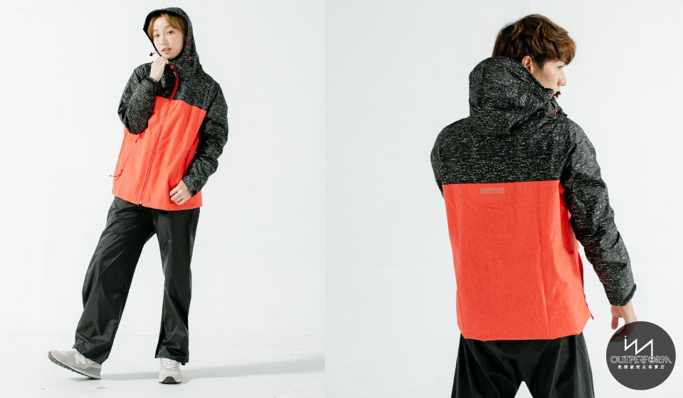 OH!MY兩件式風雨衣-硃砂紅