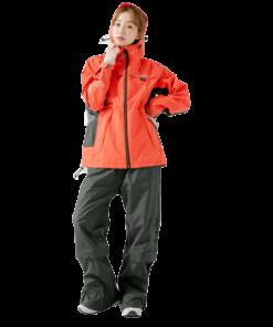 G.T多功能性兩件式風雨衣-硃砂紅-3