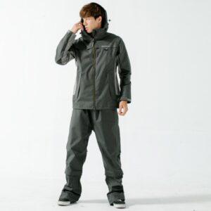 G.T多功能性兩件式風雨衣-黑-1