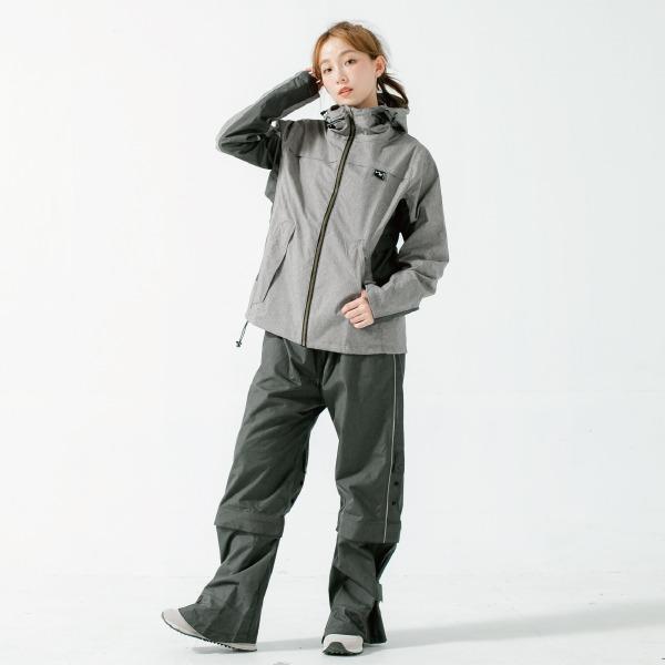 G.T多功能性兩件式風雨衣-火山灰-1
