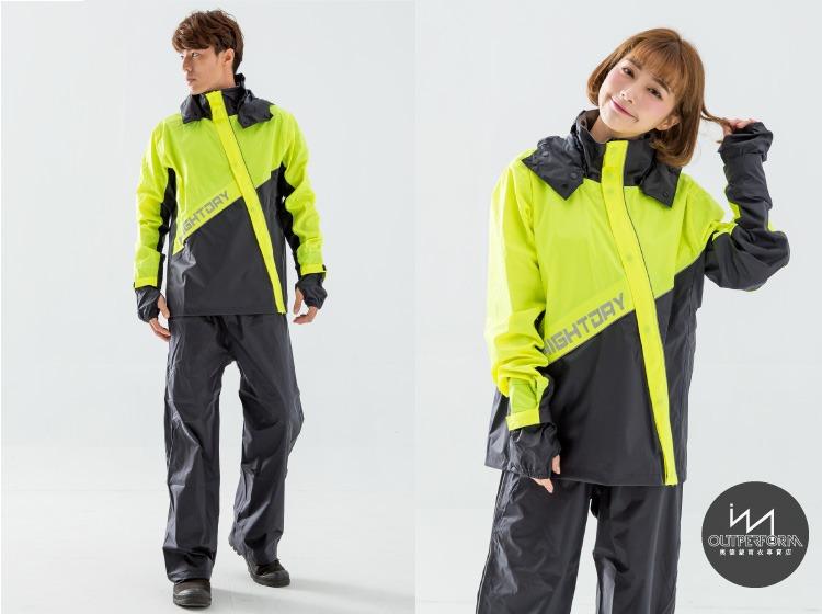 終結者斜開專利兩件式風雨衣 11